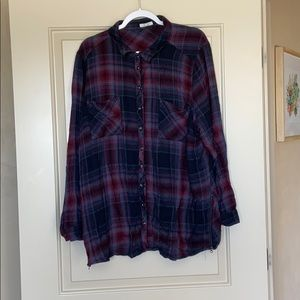 Collard button down shirt